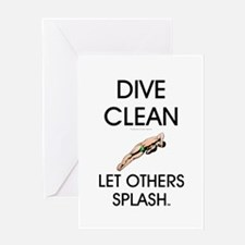 Dive Clean Greeting Card