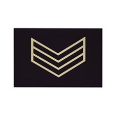 Sergeant Chevrons<BR> Rectangle Magnet