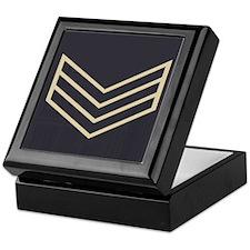 Sergeant Chevrons<BR> Tile Insignia Box