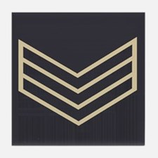 Sergeant Chevrons<BR> Tile Coaster