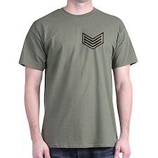 Sergeant Chevrons<BR> Green T-Shirt