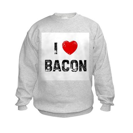 I * Bacon Kids Sweatshirt