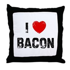I * Bacon Throw Pillow