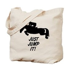 Just Jump It. Horse Tote Bag