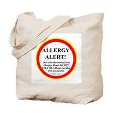 Funny Nut allergy Tote Bag