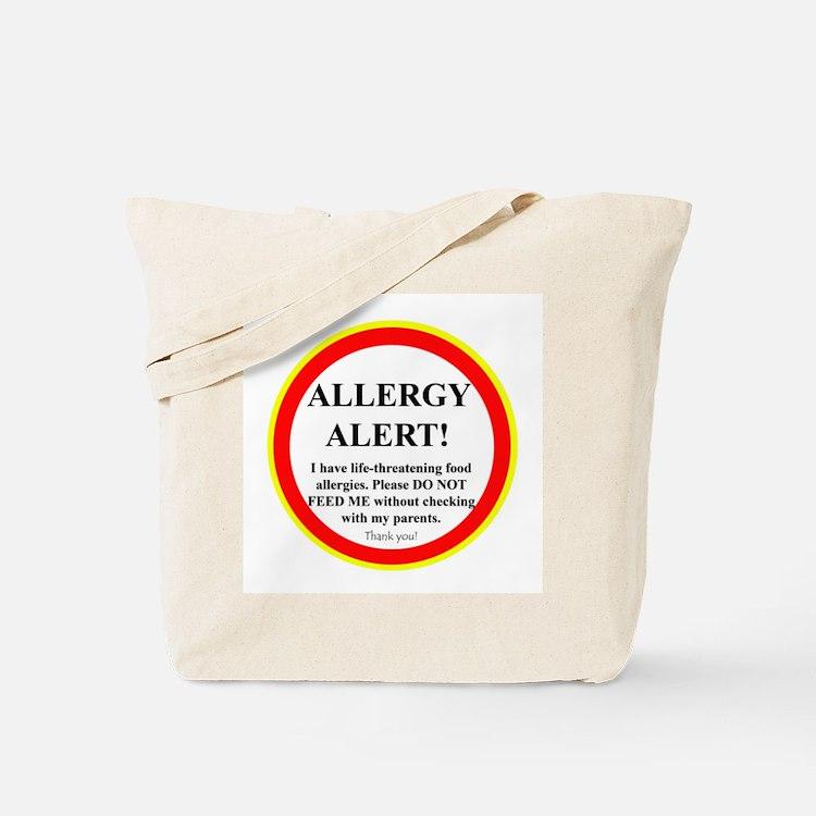 Cute Nut allergy Tote Bag