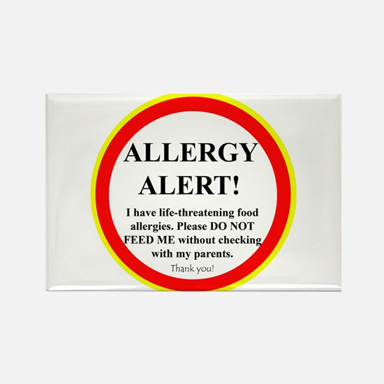 Cute Food allergy Rectangle Magnet