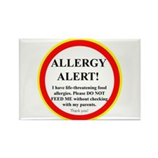 Cute Food allergy Rectangle Magnet (10 pack)