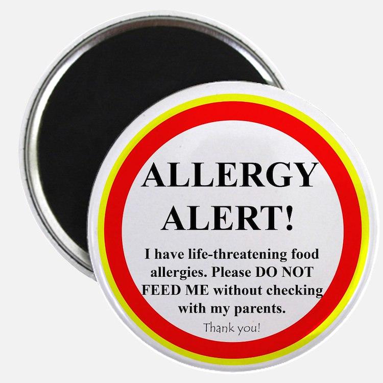 Food Allergy Alert Magnet