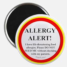 """Food Allergy Alert 2.25"""" Magnet (100 pack)"""