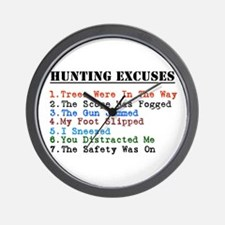 Cute Hunting humor Wall Clock