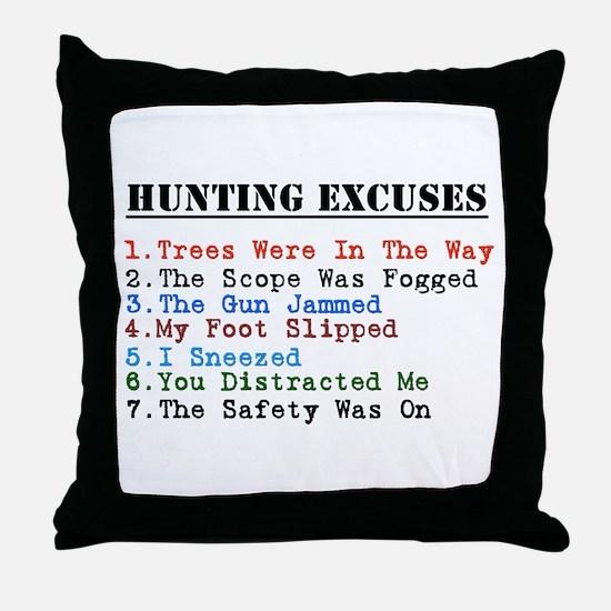 Cute Hunting humor Throw Pillow