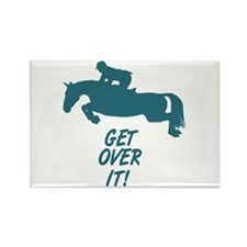 Get Over It Hunter Jumper Horse Rectangle Magnet