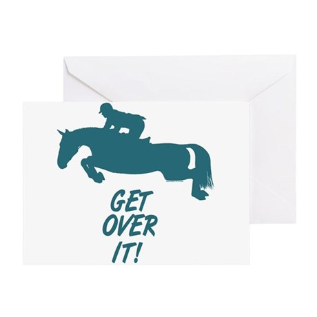 Get Over It Hunter Jumper Horse Greeting Card