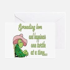 Spreading Love Turtles Greeting Card