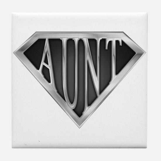 Super Aunt in Chrome Tile Coaster
