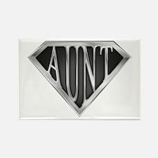 SuperAunt(metal) Rectangle Magnet