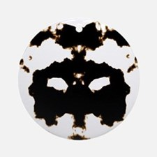Rorschach Test Round Ornament