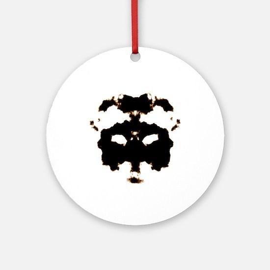 Rorschach Test Round Ornament