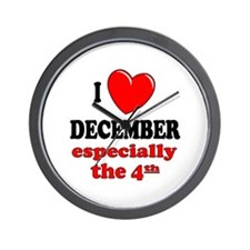 December 4th Wall Clock