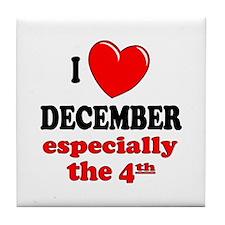 December 4th Tile Coaster