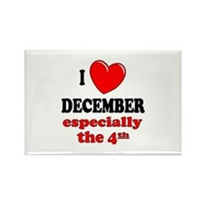 December 4th Rectangle Magnet