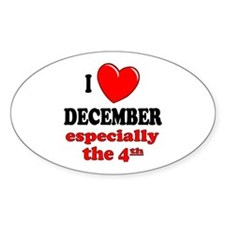 December 4th Oval Decal