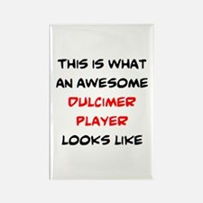 awesome dulcimer player Rectangle Magnet
