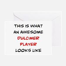 awesome dulcimer player Greeting Card
