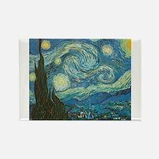 Cute Starry night van gogh Rectangle Magnet