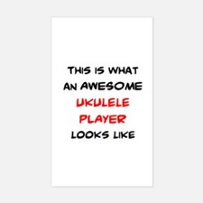 awesome ukulele player Decal