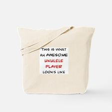 awesome ukulele player Tote Bag