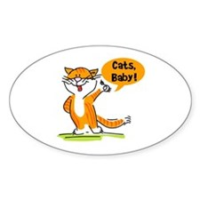 Cats, Baby Oval Decal