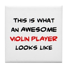 awesome violin player Tile Coaster