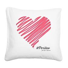Cute Jen Square Canvas Pillow