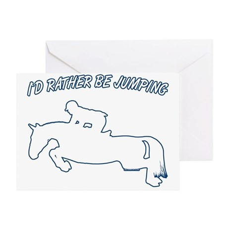 I'd rather be jumping. Horse Greeting Card