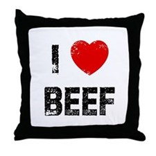 I * Beef Throw Pillow