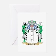 Delaney Coat of Arms (Family Crest) Greeting Cards