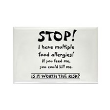 Food Allergy Rectangle Magnet