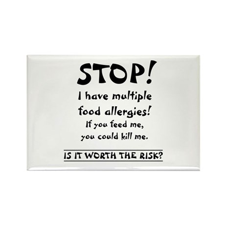Food Allergy Rectangle Magnet (10 pack)