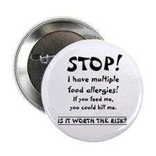"Food Allergy 2.25"" Button (100 pack)"