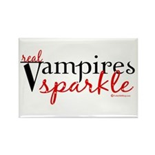 Real Vampires Sparkle Rectangle Magnet