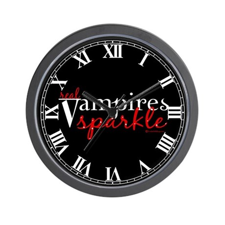 Real Vampires Sparkle Wall Clock
