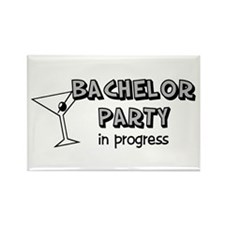 Bachelor Party in Progress Rectangle Magnet