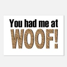 You had me at Woof! Postcards (Package of 8)