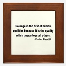 Churchill Courage Is The First Framed Tile