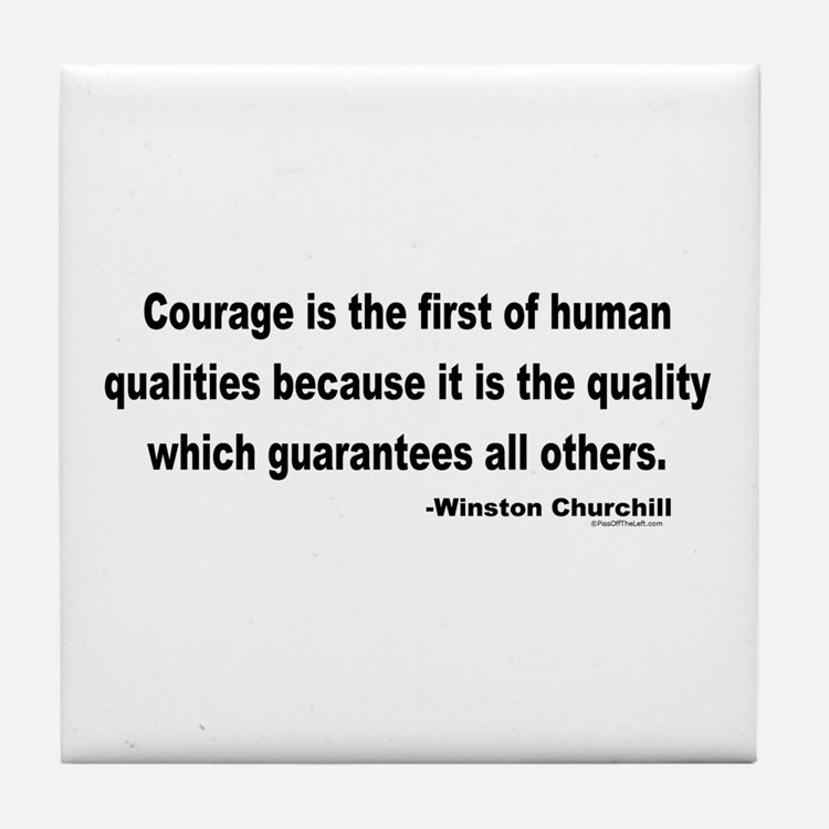 Churchill Courage Is The First Tile Coaster