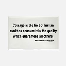 Churchill Courage Is The First Rectangle Magnet (1