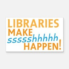Funny Librarian Rectangle Car Magnet