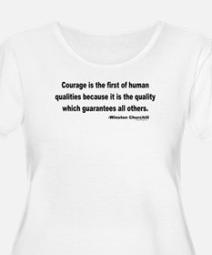 Churchill Courage Is The First T-Shirt